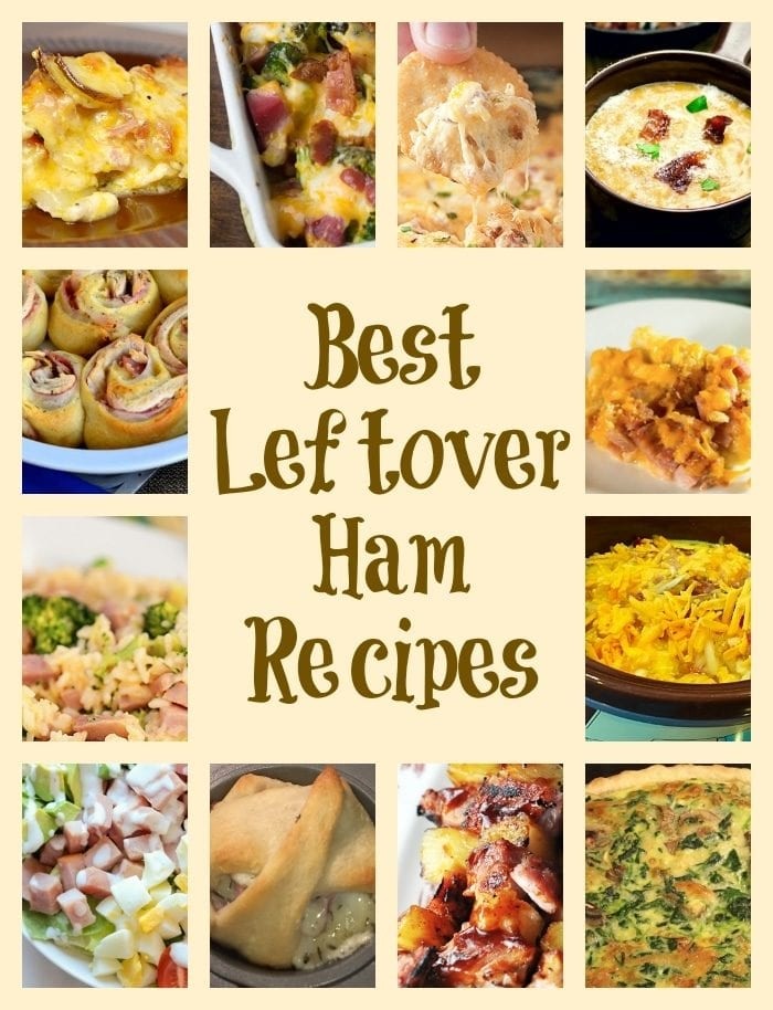 12 of the BEST and easiest leftover ham recipes ever. Perfect for after Christmas and Easter.