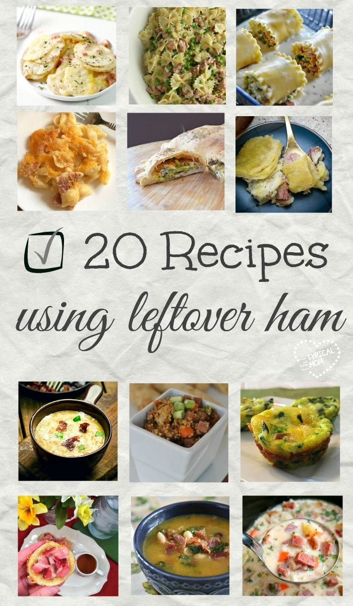 20 of the best leftover ham recipes ever! Pin for later & you'll have a ton of ways to use your leftover ham this year!!