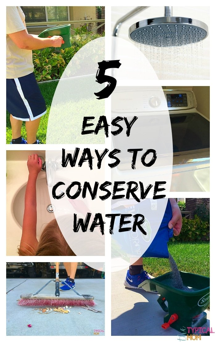 Ways to conserve water the typical mom - Five easy cleaning tips get some time for yourself ...