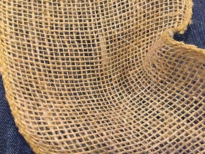DIY burlap garland