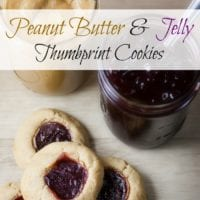 Peanut Butter and Jelly Thumbprint Cookie Recipe