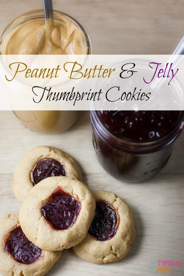 Peanut Butter and Jelly Thumbprint Cookie Recipe * The Typical Mom