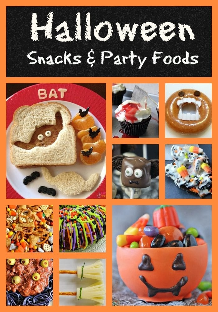 Halloween snacks and party food ideas for kids!