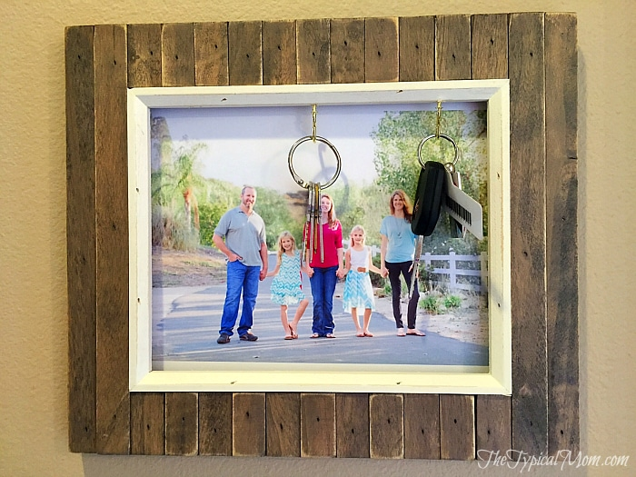 DIY Picture Frame Key Holder · The Typical Mom