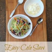 Easy Cole Slaw Recipe
