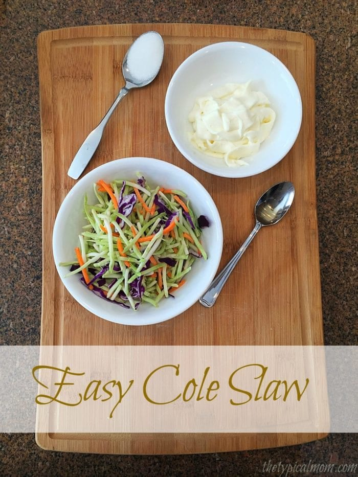 Easy cole slaw dressing recipe that goes great with many meals.