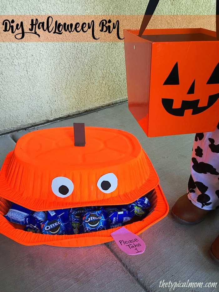 dollar store halloween decorations yourself fun diy halloween candy bin for when you are gone but still want to hand out