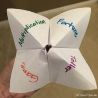 Multiplication Fortune Teller Game