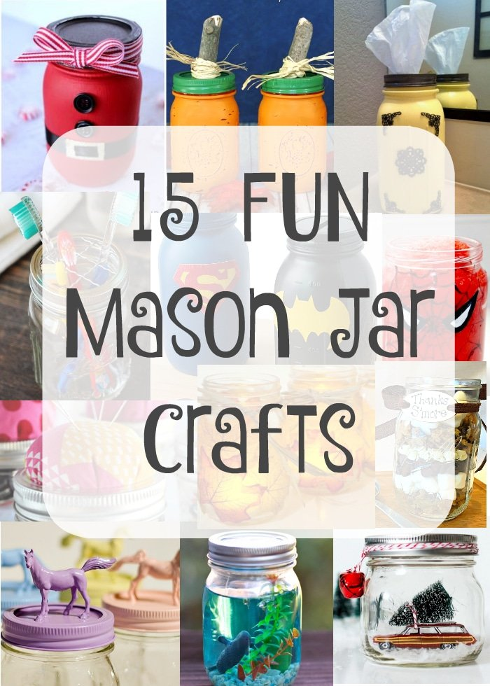 Crafts using mason jars the typical mom for Crafts to make with glass jars