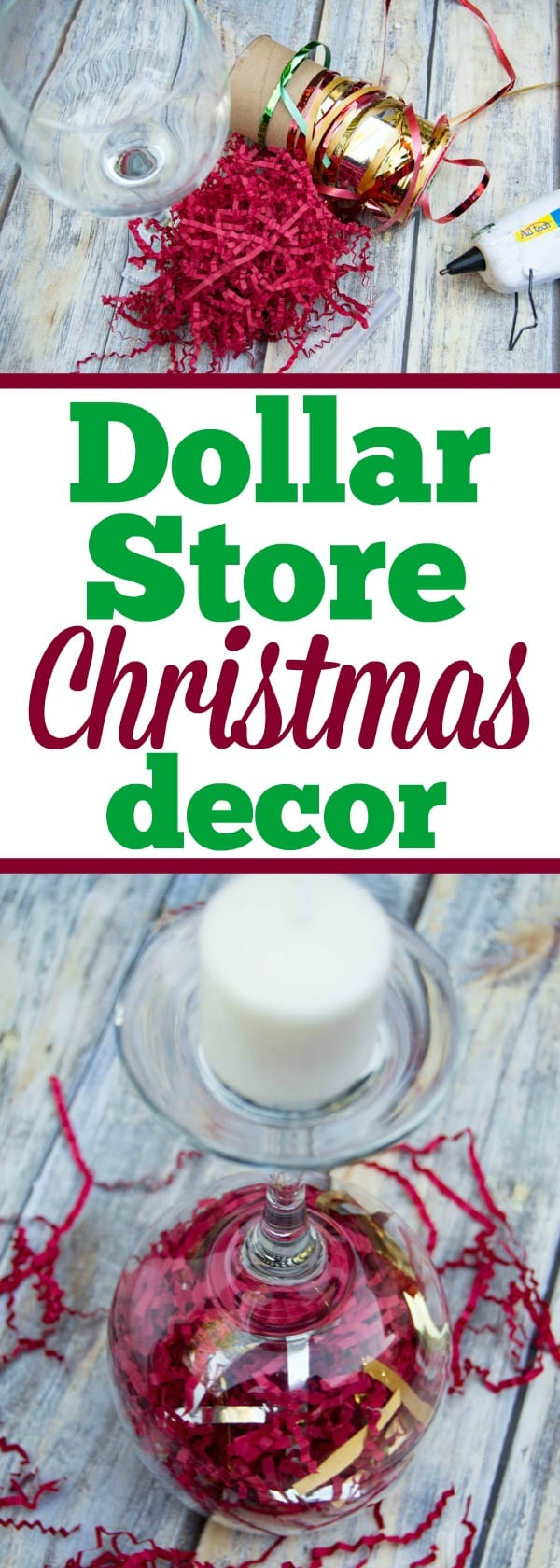 My favorite Dollar Store Christmas decorations that are cheap and easy to make and a great craft for kids too. Do it yourself holiday home decor for less.