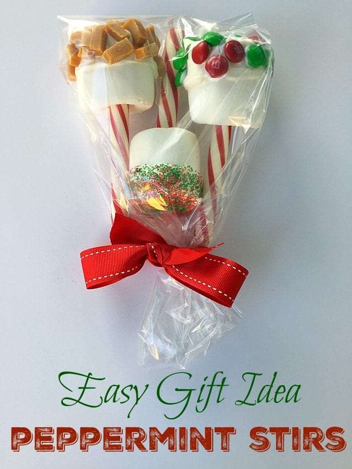 Peppermint stick stirrers are fun and a yummy and easy gift idea for Christmas. Just wrap them up with a bow for Teachers.. Easy craft for kids.