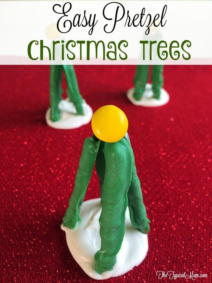 pretzel christmas trees
