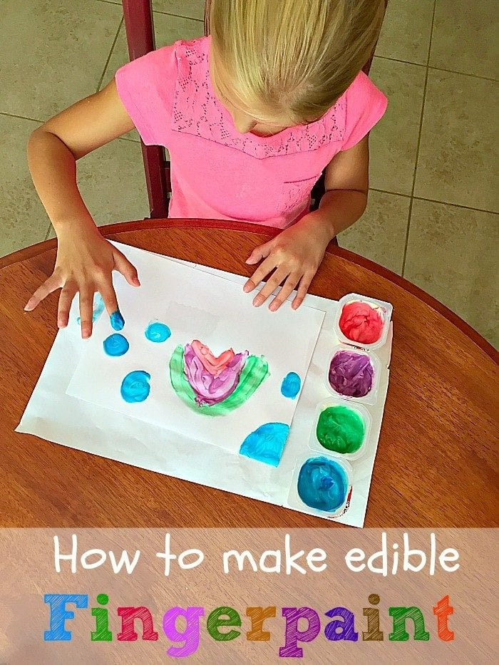 how to make edible fingerpaint