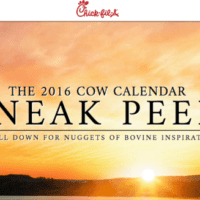 Chick Fil A Calendar FREEbies