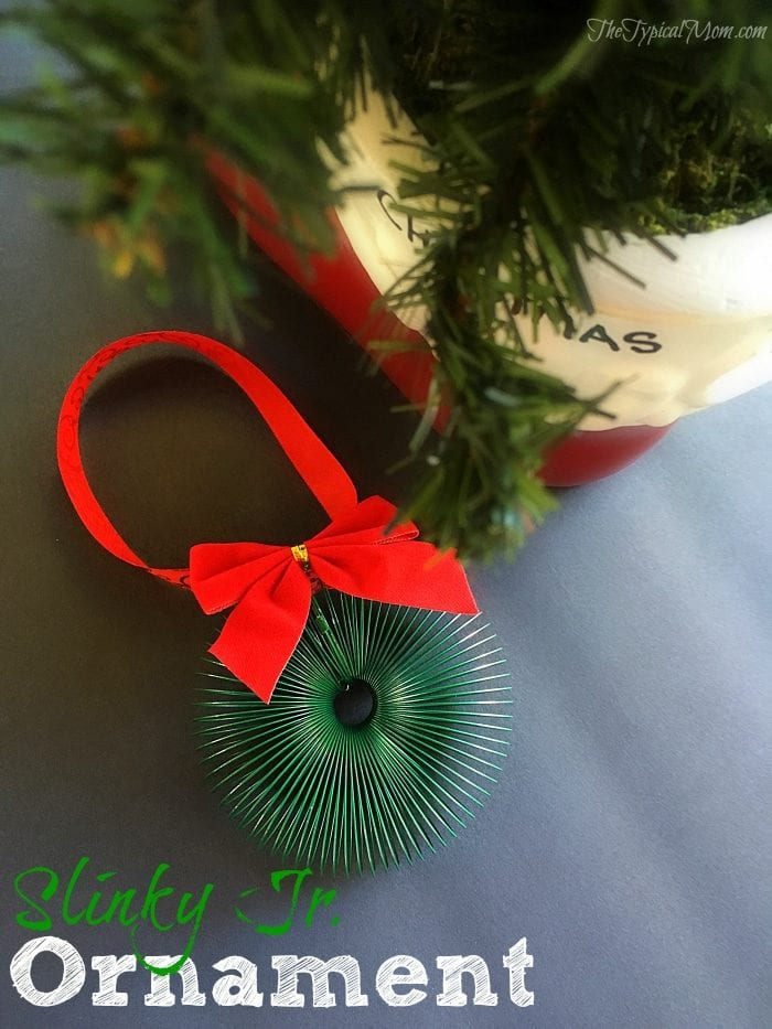 Slinky christmas wreath ornament the typical mom slinky christmas wreath ornament that is fun for kids to make let them play with solutioingenieria Image collections