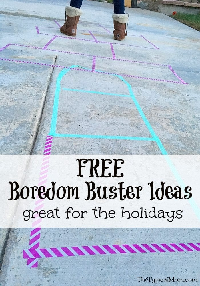 Great boredom buster ideas to keep your kids busy at home for School breaks!