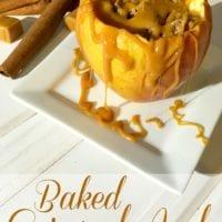 Inside out baked caramel apples