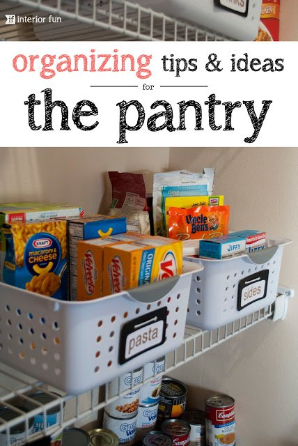 Organize your pantry for less.