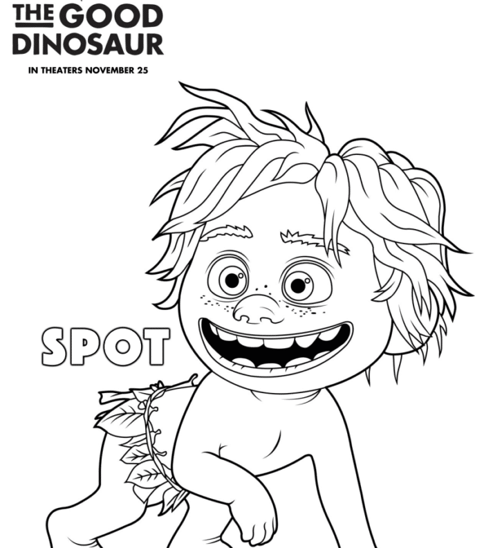4 The Good Dinosaur FREE printable coloring pages.