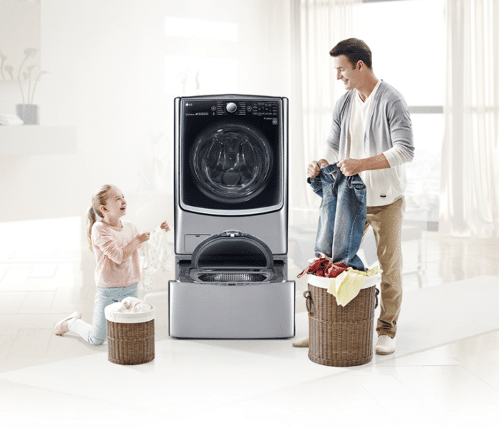 LG Twin Wash™. Wash TWO loads of laundry at a time!