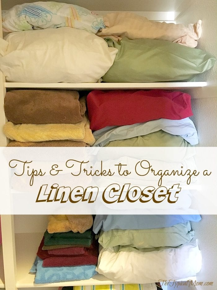 Tips and tricks for organizing a linen closet for free and will save you TONS of time.