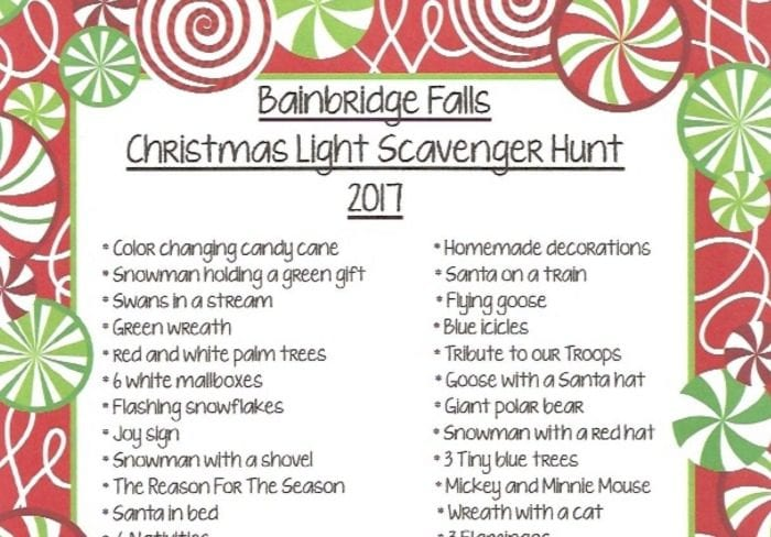 bainbridge scavenger hunt