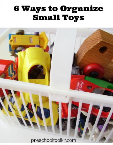 How to organize small toys around the house.
