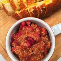 Slow cooker chili recipe