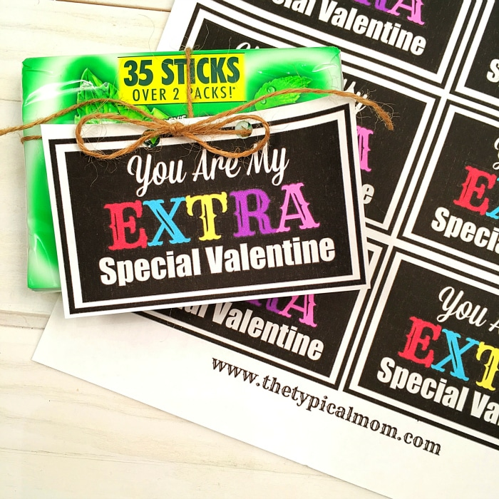 Extra Special Valentines Day Printable The Typical Mom