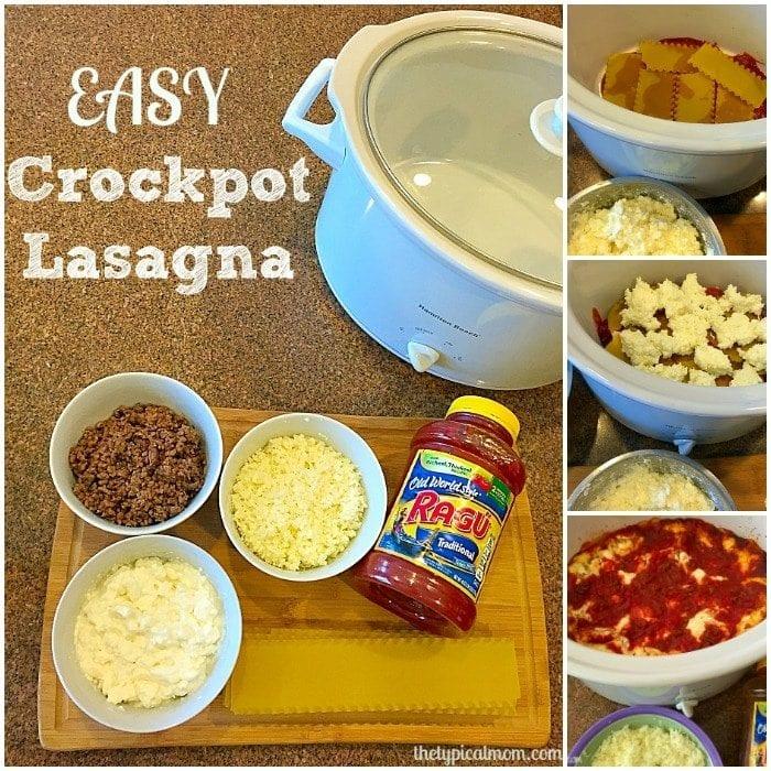 Easy crockpot lasagna