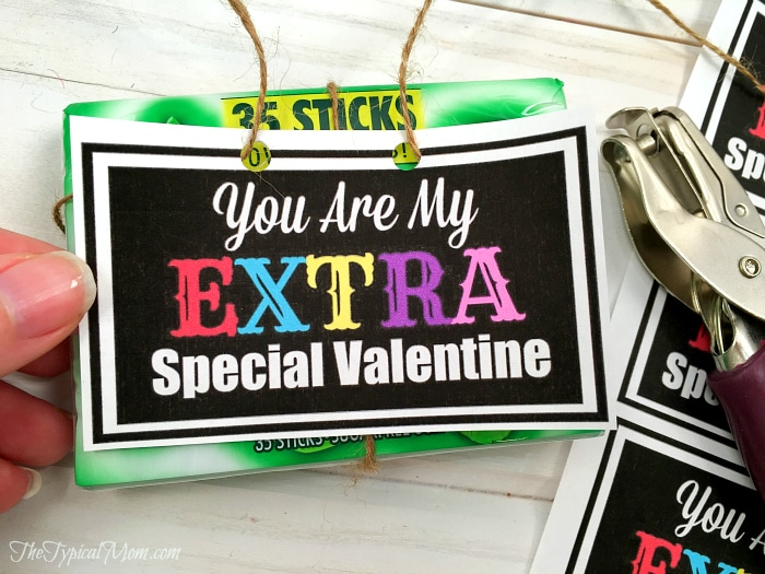 This is a photo of Magic Extra Gum Valentine Printable