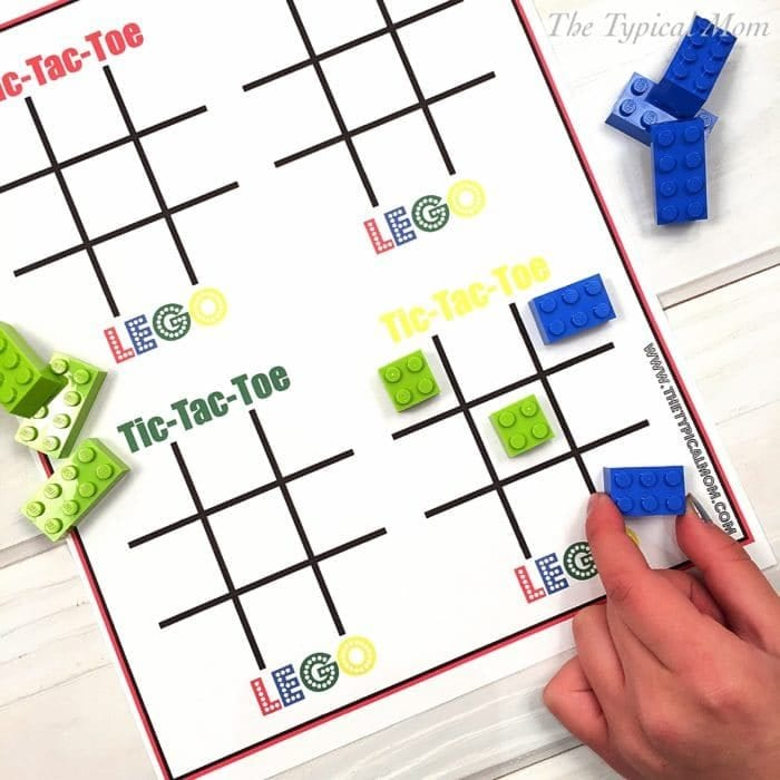 Tic Tac Toe LEGO · The Typical Mom