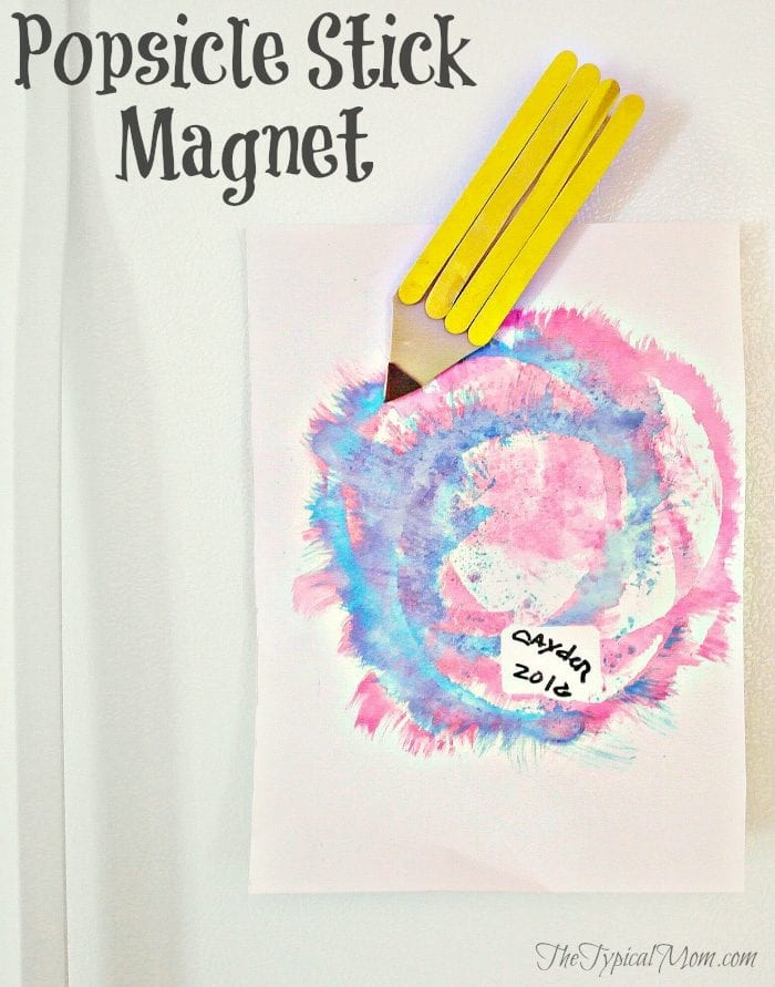 Popsicle stick magnet craft