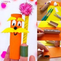 The Lorax Truffula Tree Finger Puppets