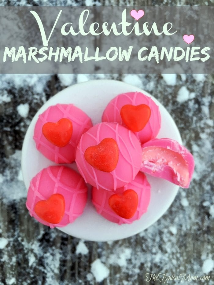Valentine marshmallow candies the typical mom for Valentine day at home