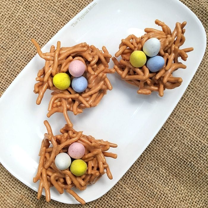 Butterscotch nest Easter dessert is NO bake and delicious.