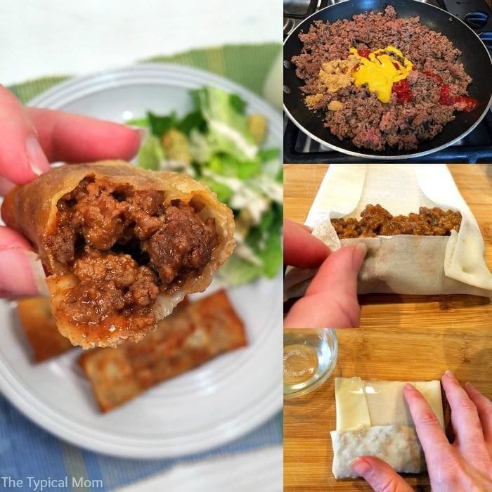 Fun and tasty sloppy joe egg rolls!! Great appetizer too!