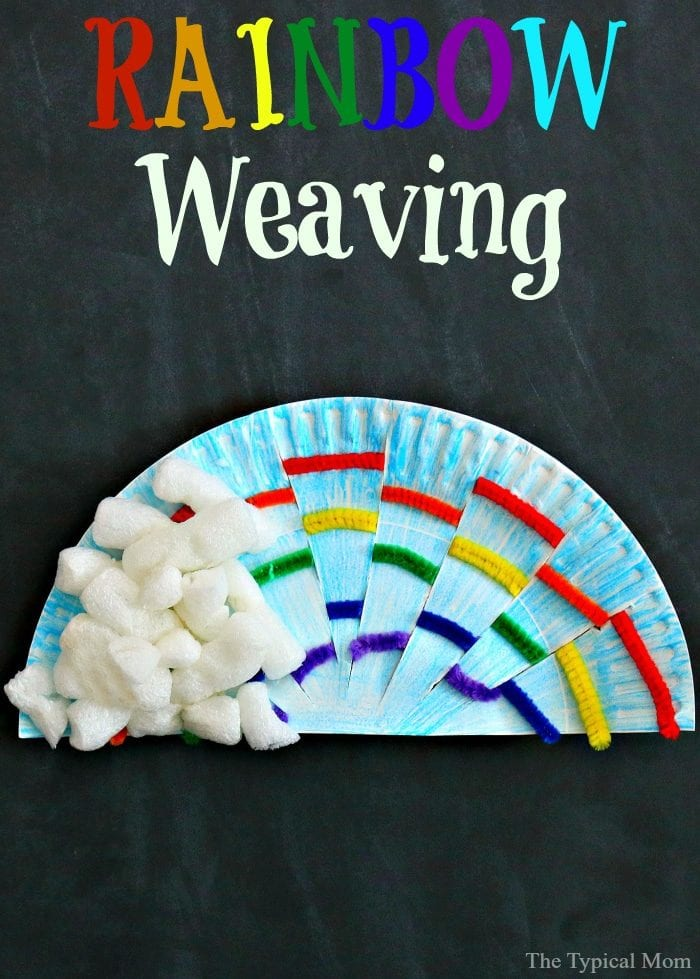 Classroom Craft Ideas ~ Rainbow weaving art · the typical mom
