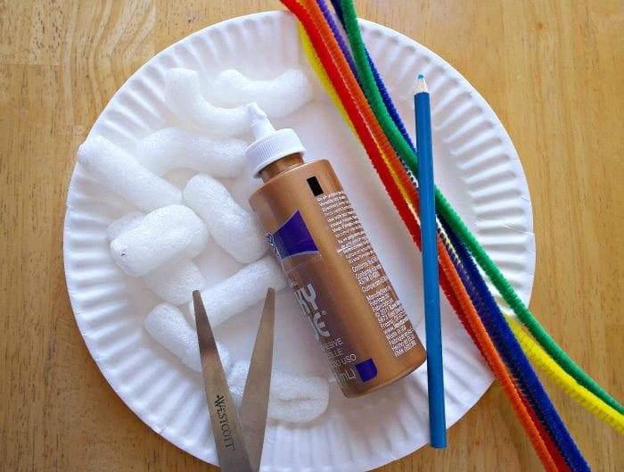 Rainbow weaving art. Materials. Paper plate ... & Rainbow Weaving Art · The Typical Mom