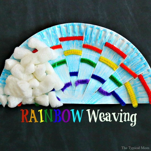 St.Patrick's Day rainbow craft for kids.