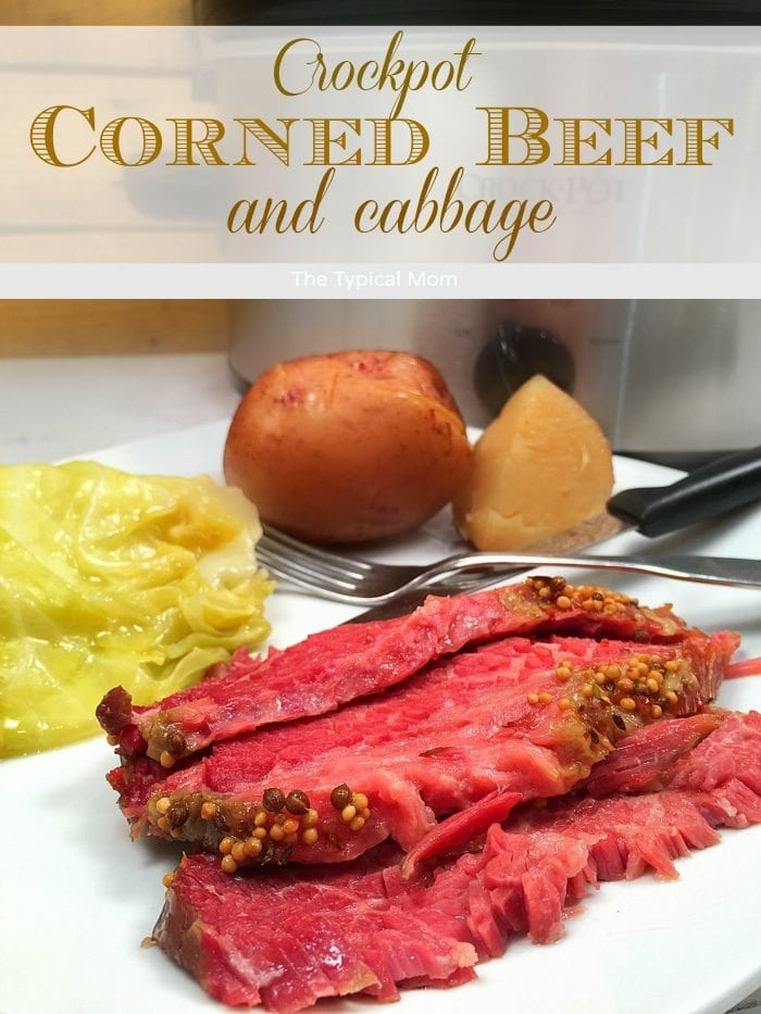 Slow cooker corned beef brisket recipe that's amazing!! How to cook corned beef and cabbage in the crockpot is answered, super EASY to do!