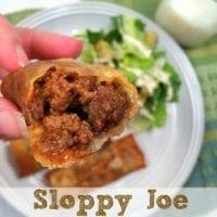 Sloppy Joe Egg Rolls