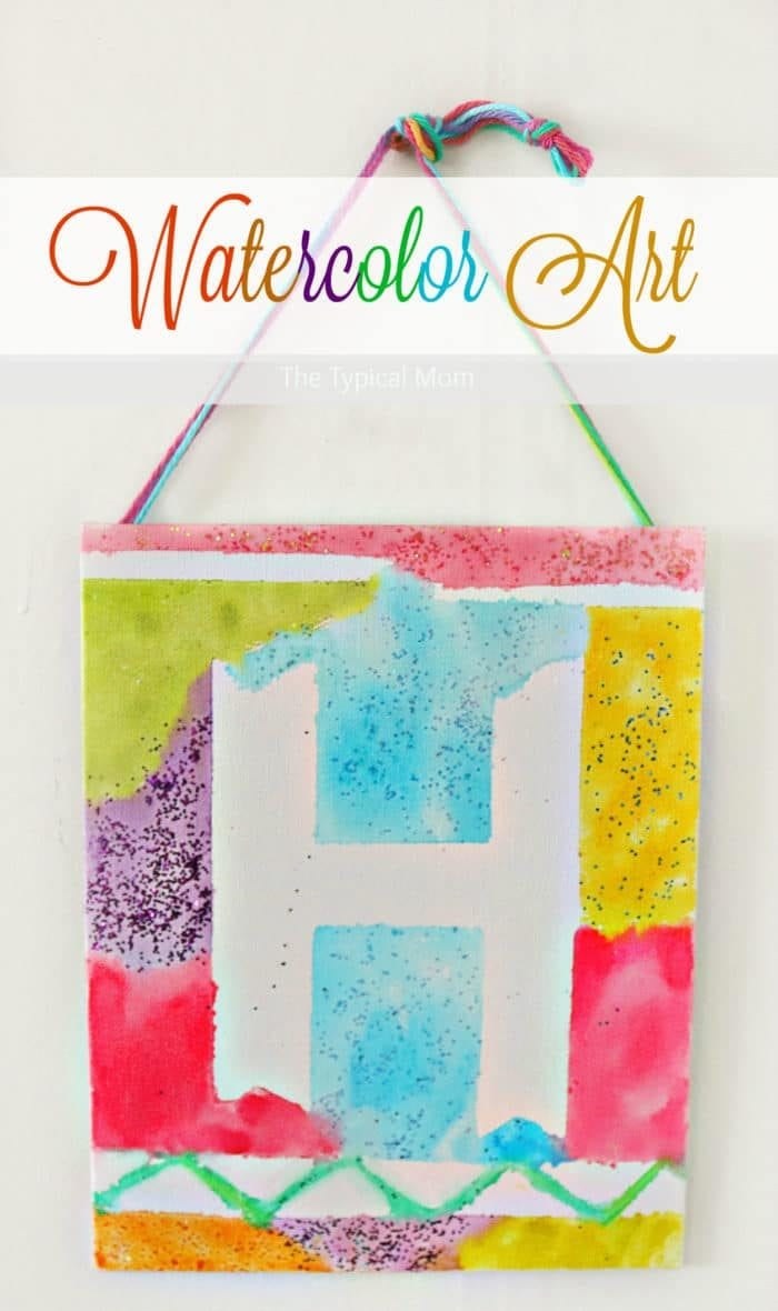 Watercolor painting ideas the typical mom for Canvas art ideas for kids