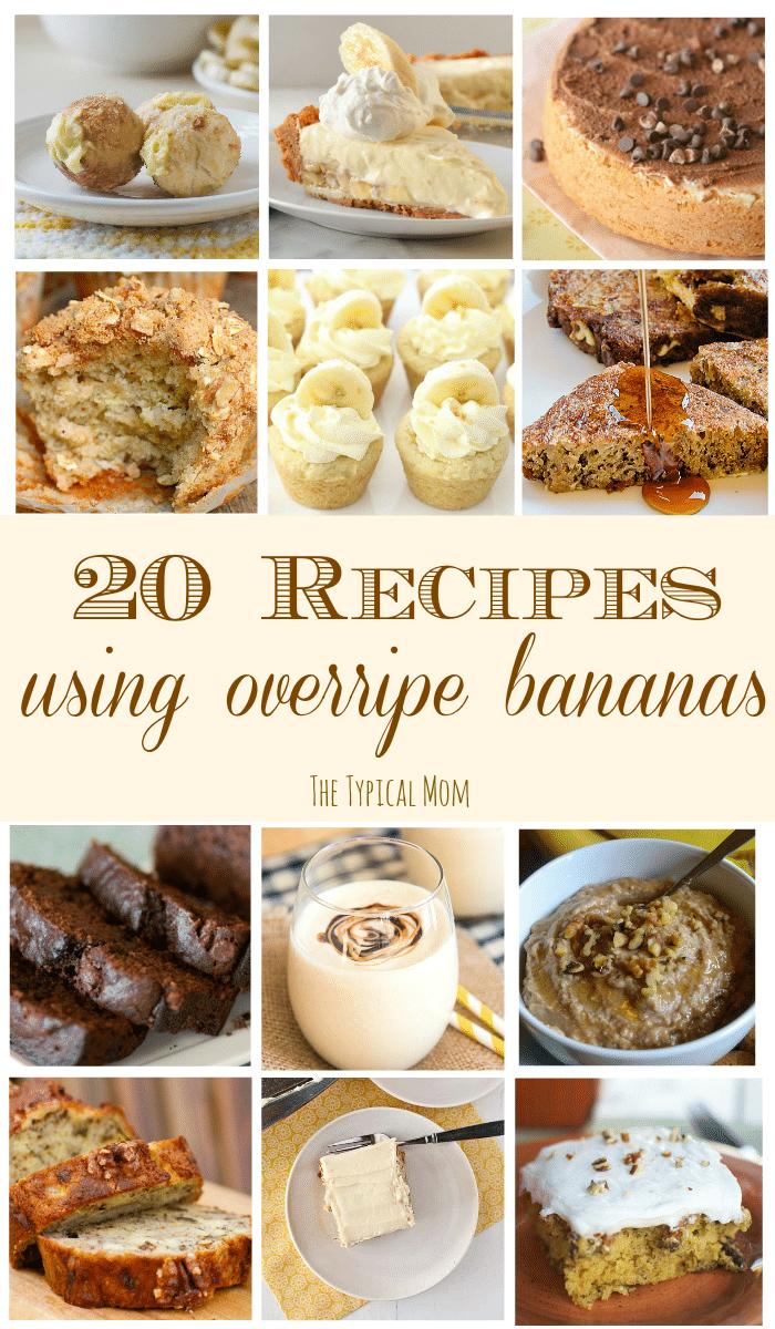 overripe banana recipes