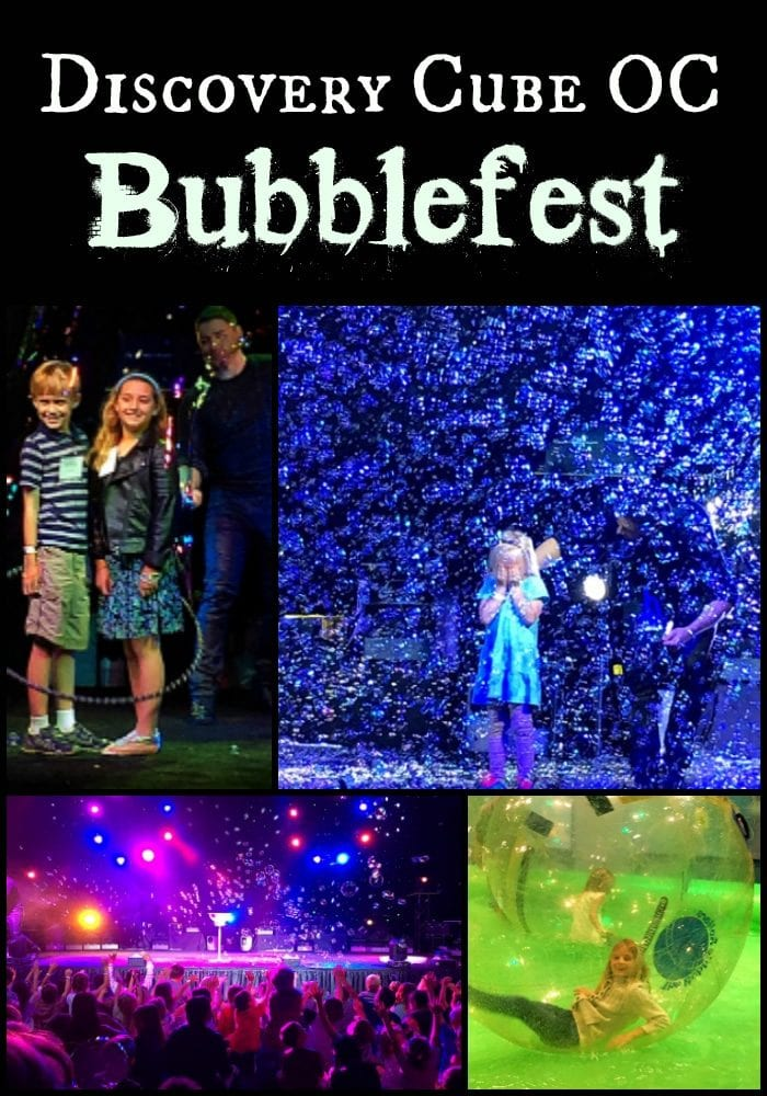 Discovery Cube oc bubblefest