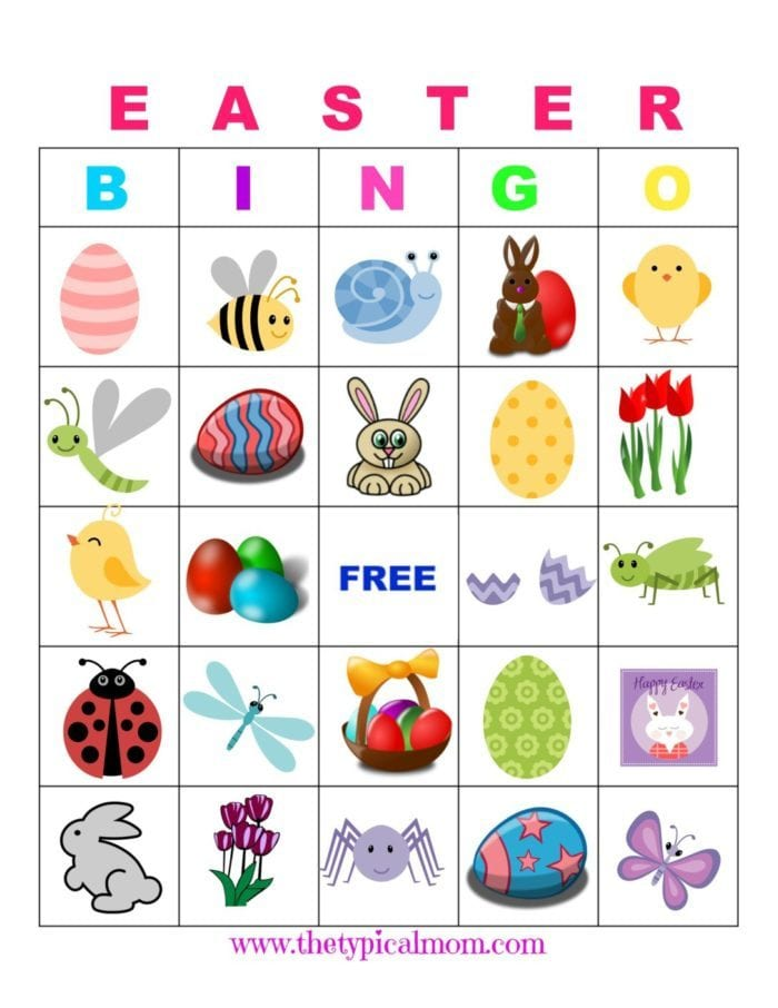 Easter bingo the typical mom easter bingo solutioingenieria Image collections