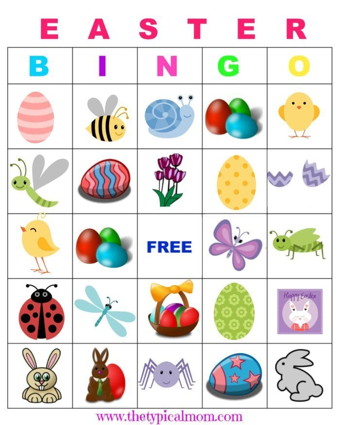 photograph about Spring Bingo Game Printable called Absolutely free Easter Phrase Glimpse Printable for Children