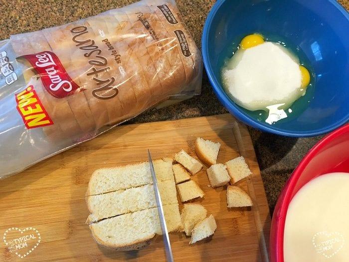 Easy bread pudding recipe.