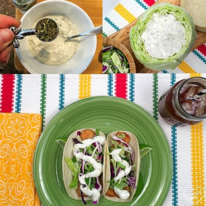 how to make fish taco white sauce