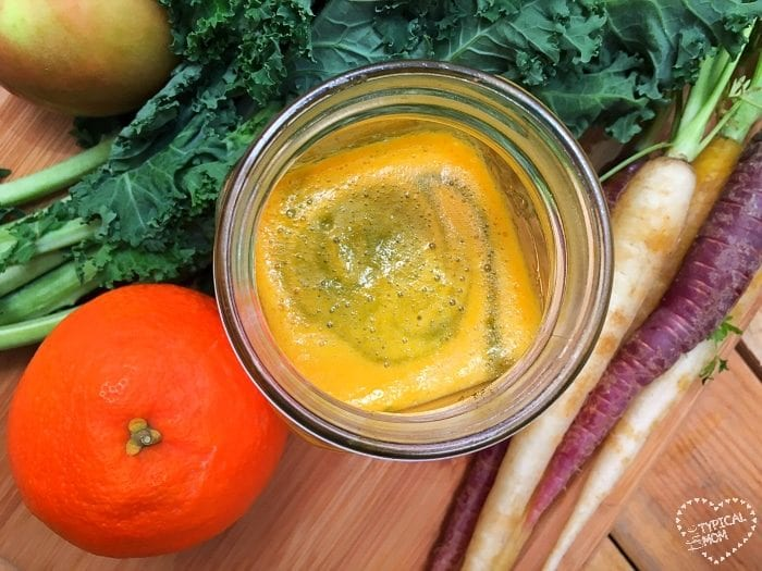 Easy to make kale juice blend.